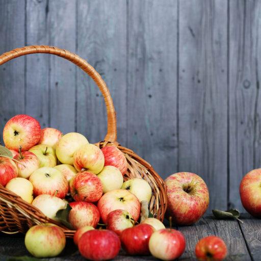 Æblekage kurv