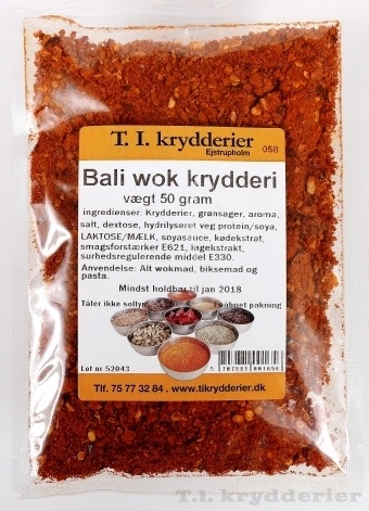 Bali wok krydderi 50 g