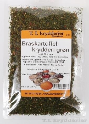 Braskartoffel krydderi grøn