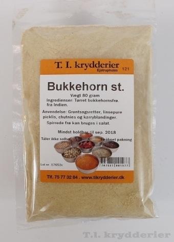 Bukkehornsfrø stødt