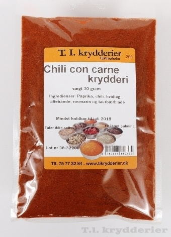 Chili con carne krydderi