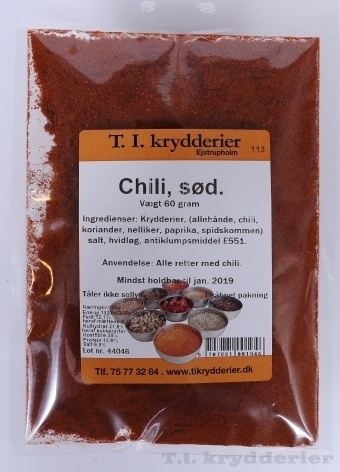 Sød chili  60 g