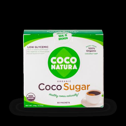 Coco Natura – Økologisk Kokossukker 3,5 g pk (50 stk/ks)