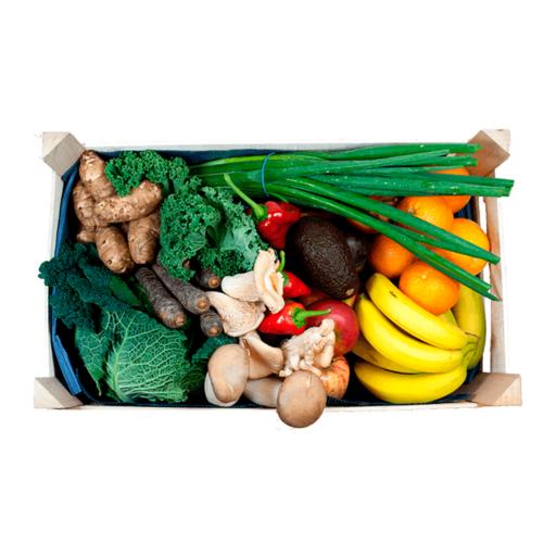 Stor frugt- og grøntkurv