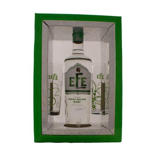 Efe Raki Gaveæske + 2 glas