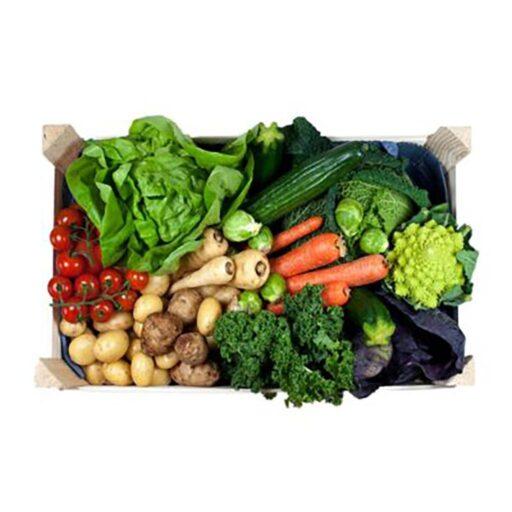 Grøntkurv med kartofler