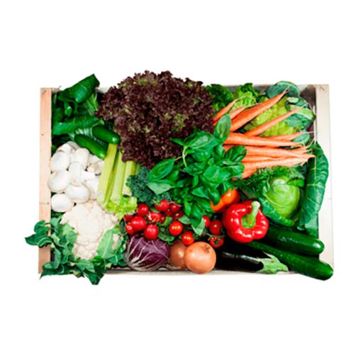 Stor grøntkurv uden kartofler
