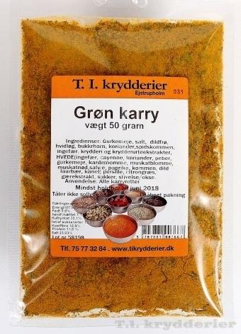 Grøn Karry 50 g