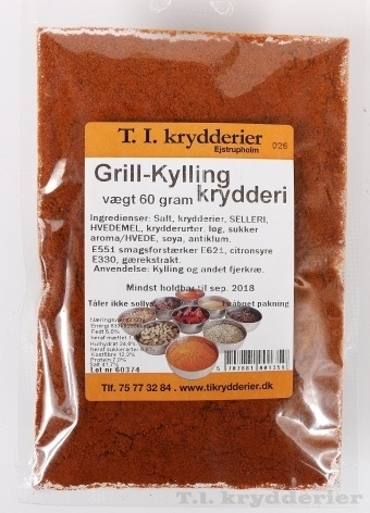 Grillkylling krydderi 50 g