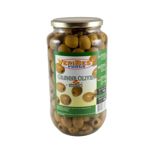 Oliven Grøn u/sten1Kg Glas