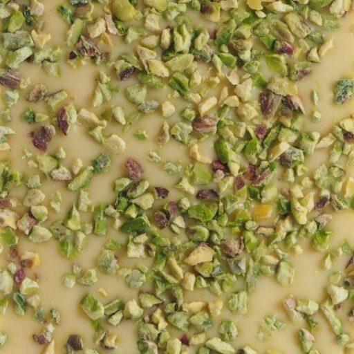 Hvid chokolade med pistacienødder