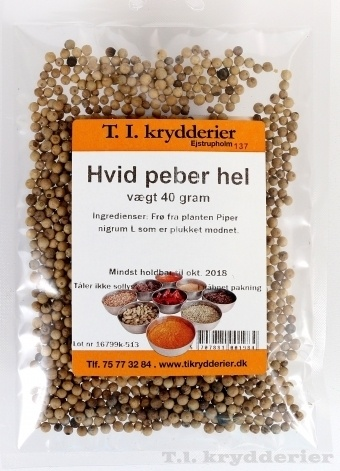 Hvid Peber hel 30 g