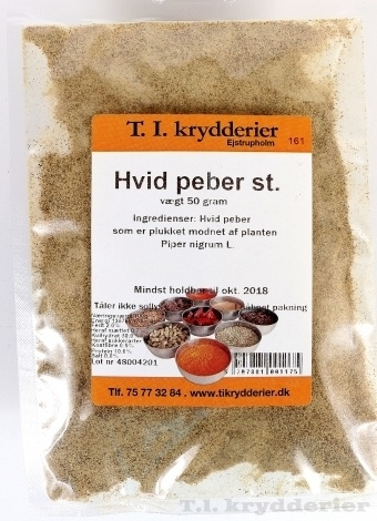 Hvid Peber stødt 30 g