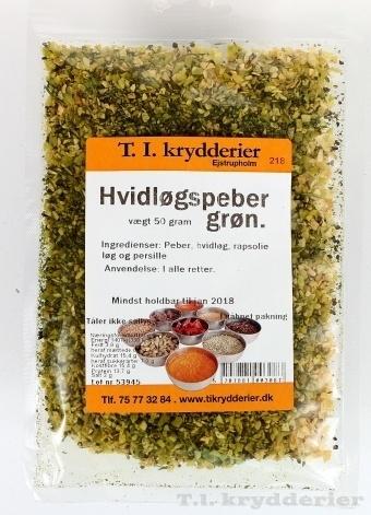 Hvidløgs Peber grøn 50 g