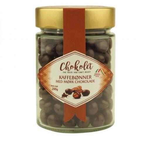 Dragees kaffebønner med mørk chokolade