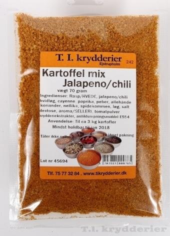 Kartoffelmix med jalapeno og chili