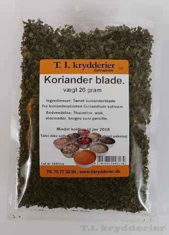 Korianderblade