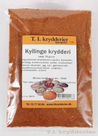 Kyllinge krydderi 70 g