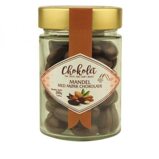 Dragees mandel med mørk chokolade