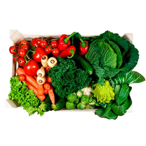 mellem frugt og grøntkurv