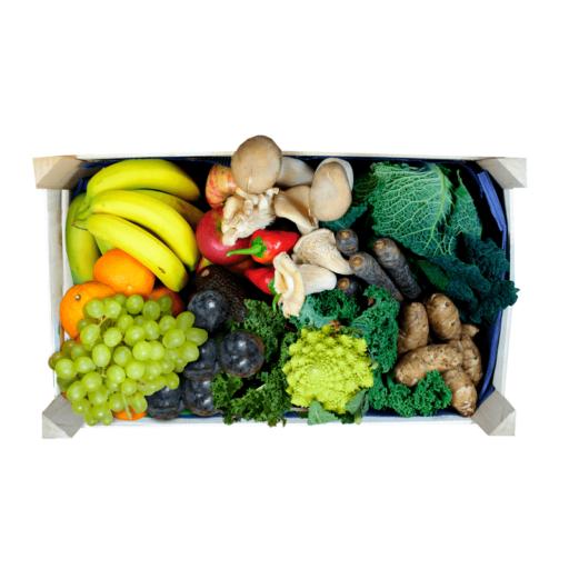 Mellem frugt- og grøntkurv