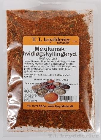 Mexicansk hvidløgskylling krydderi