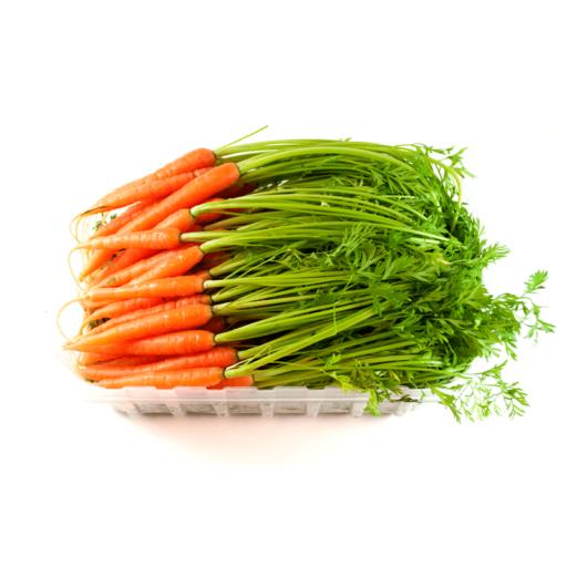 Mini gulerødder med top-0