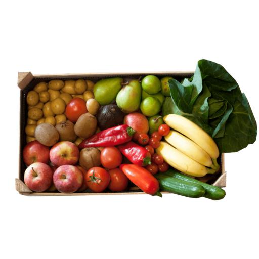 Økologisk mellem Frugt-og Grøntkurv