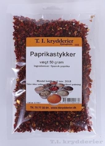 Paprika stykker 50 g