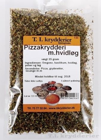 Pizzakrydderi med hvidløg