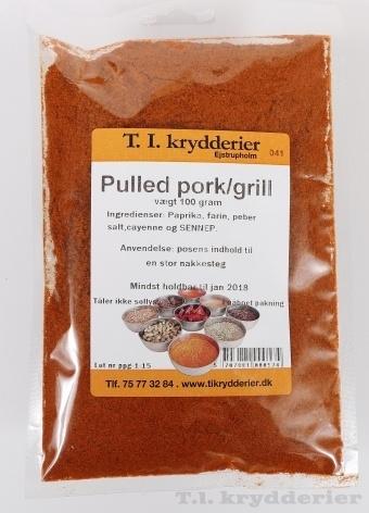 Pulled pork grill krydderi
