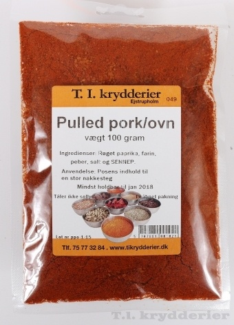 Pulled pork ovn krydderi