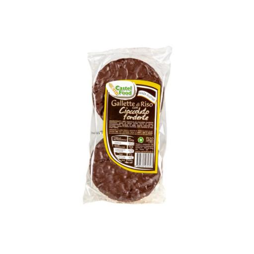 Ris kiks m. mørk chokolade – Økologisk 100 g – 6 stk.