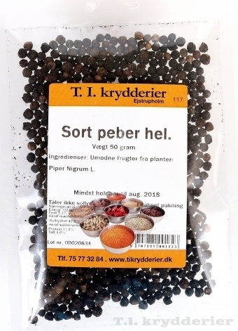 Sort Peber hel 40 g