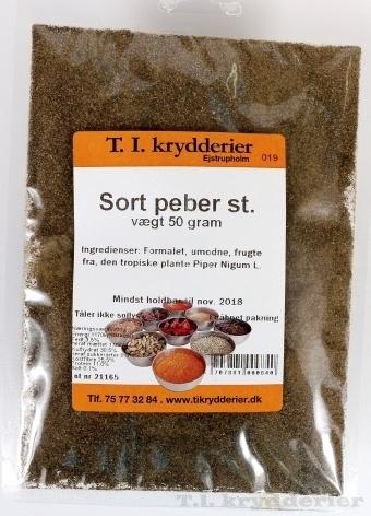 stødt sort peber