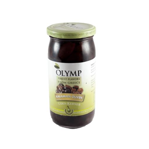 Oliven Sort kalamata u/sten 370 gl