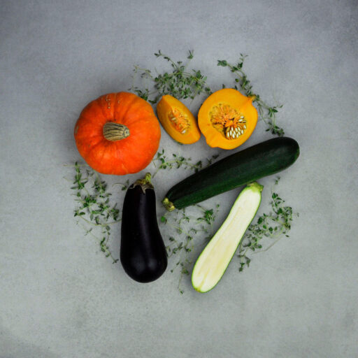 Squash, auberginer og græskar