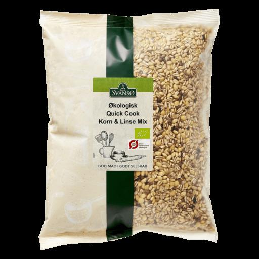 Svansø Økologisk Quick Cook Korn & Linse mix 1 kg