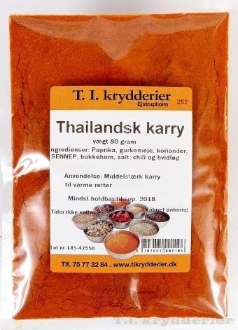 Thailandsk karry 80 g