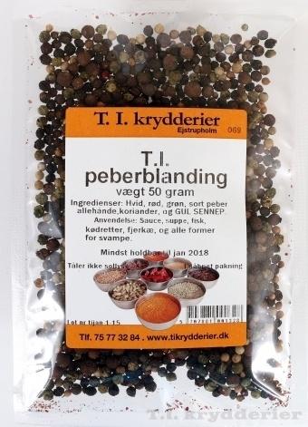 T.I. Peber bl. hel 40 g