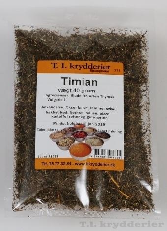 Timian skåret