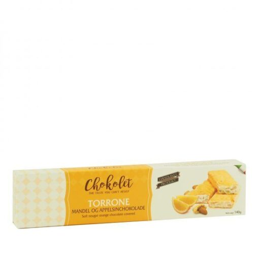 Torrone mandel med appelsinchokolade