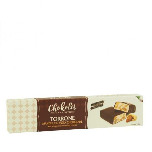 Torrone mandel med mørk chokolade