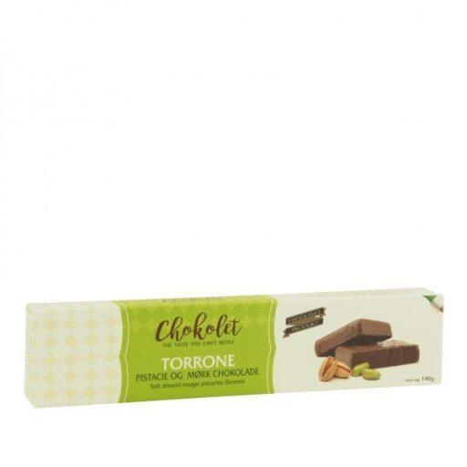Torrone pistacie og mørk chokolade